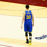 10 June 2016: Golden State Warriors guard Stephen Curry (30) is seen during the Golden State Warriors 108-97 victory over the Cleveland Cavaliers, during Game Four of the 2016 NBA Finals at the Quicken Loans Arena, Cleveland, Ohio, USA.