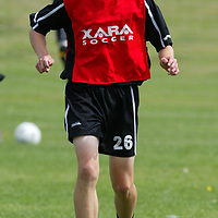 St Johnstone training...11.08.03<br />Stephen Fraser<br /><br />Picture by Graeme Hart.<br />Copyright Perthshire Picture Agency<br />Tel: 01738 623350  Mobile: 07990 594431