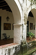 San Pedro Claver Church, Corridor and Courtyard<br />  (1603),<br />  Cartagena <br /> de Indias, Bolivar<br />  Department,<br />  Colombia, South America.