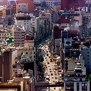 Aerial Photograph of Downtown Tokyo, Japan
