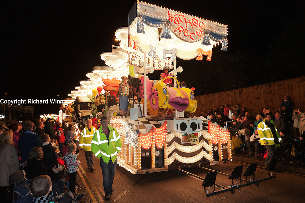 Wackee Race by  Wills Carnival Club in 2011. Bridgwater Carnival is an annual event to raise money for local charities. It is widely reputed to be the largest illuminated carnival in the world.