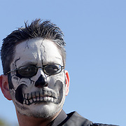 James Lawrence is pictured during the Day of the Dead Art Crawl in the Brooklyn Arts District. (Jason A. Frizzelle)