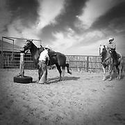 2011 texas cowboy calendar, march, got a wild one, dewey hill, thomas saunders, saunders ranch, weatherford, texas