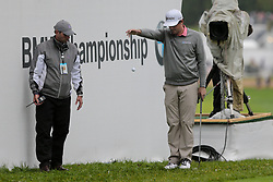 September 10, 2018 - Newtown Square, Pennsylvania, United States - Keegan Bradley drops a ball on the 18th hole during the final round of the 2018 BMW Championship. (Credit Image: © Debby Wong/ZUMA Wire)