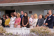 Angelica Huston, Bianca Jagger,  Sabrina Guinness,  Martine McCutcheon, Cate Blanchett and her baby son Roman Upton.  Patty Upton and Cahrles Finch.Cartier International Day at Guards Polo Club, Windsor Great Park. July 24, 2005. ONE TIME USE ONLY - DO NOT ARCHIVE  © Copyright Photograph by Dafydd Jones 66 Stockwell Park Rd. London SW9 0DA Tel 020 7733 0108 www.dafjones.com