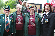 Lady veterans during the Soldier F Protest at Media City, Salford, United Kingdom on 18 May 2019.