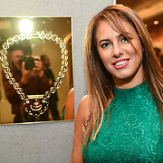 Christine Artwork is a artist attend the London Arabia Art & Fashion Week 2019 at Jumeirah Carlton Tower, on 5 August 2019, London, UK.
