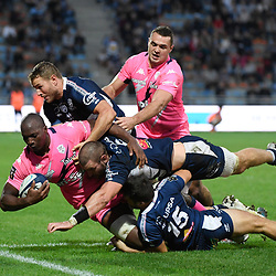 Sekou MACALOU of Stade Francais during the Top 14 match between Agen and Stade Francais on October 19, 2019 in Agen, France. (Photo by Julien Crosnier/Icon Sport) - Sekou MACALOU - Stade Armandie - Agen (France)