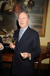 EDGAR ASTAIRE at a reception to support The Hyde Park Appeal held in the officers Mess, Household Cavalry Mounted Regiment, Hyde Park Barracks, London SW1 on 10th November 2008.