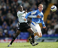 Photo: Lee Earle.<br /> Birmingham City v Chelsea. The Barclays Premiership. 01/04/2006. Chelsea's Claude Makelele (L) battles with Nicky Butt.