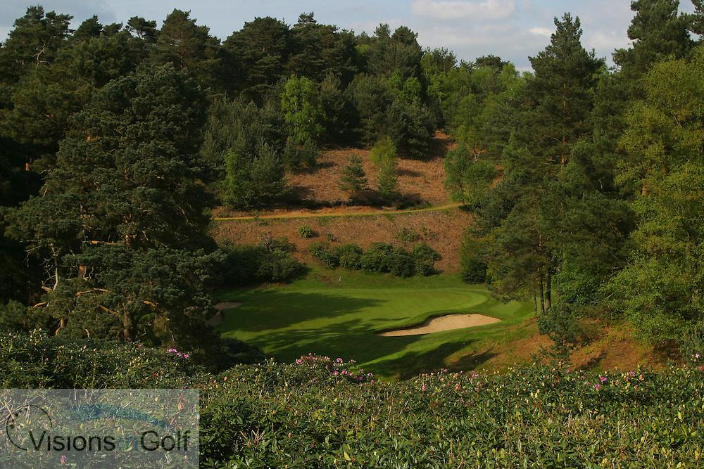 3rd hole, par 3, Woburn GC, Dukes course, England, UK <br /> <br /> Photo Mark Newcombe
