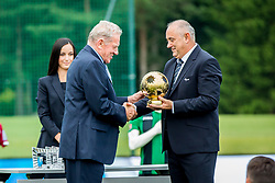Milan Mandaric and Radenko Mijatovic during official draw for Slovenian first football league for season 2018-2019, on June 21, 2018 in Nacionalni nogometni center Brdo pri Kranju, Kranj, Slovenia. Photo by Ziga Zupan / Sportida