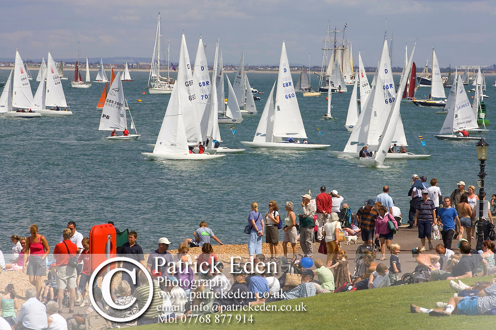Isle of Wight, Cowes Week 2007 The Green Photographs of the Isle of Wight by photographer Patrick Eden photography photograph canvas canvases