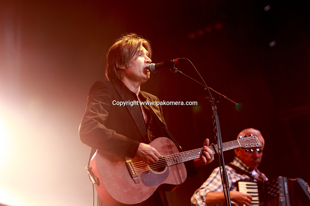 Edinburgh, Scotland. UK. 21 July. Del Amitri perform on stage in the Edinburgh Castle's Esplanade on 19 July 2018. Photo: Pako Mera/Alamy Live News.