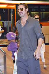 60232378<br /> Brad Pitt and Angelina Jolie with their children Pax Knox and Vivienne at Tokyo International Airport Arrival, Tokyo, Japan.<br /> Sunday, 28th July 2013<br /> Picture by imago / i-Images<br /> UK ONLY
