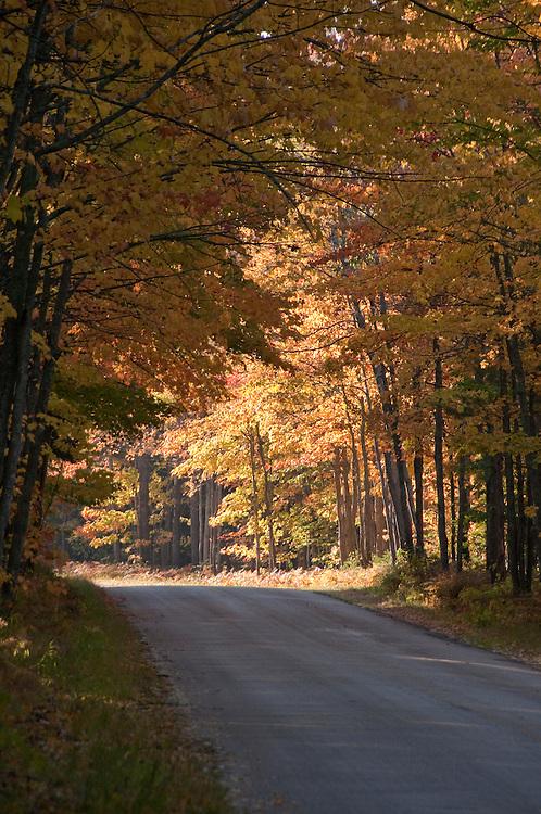 Fall color driving near Munising and Grand Marais in Michigan's Upper Peninsula.