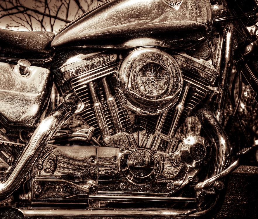 Harley Davidson V-Twin motorcycle