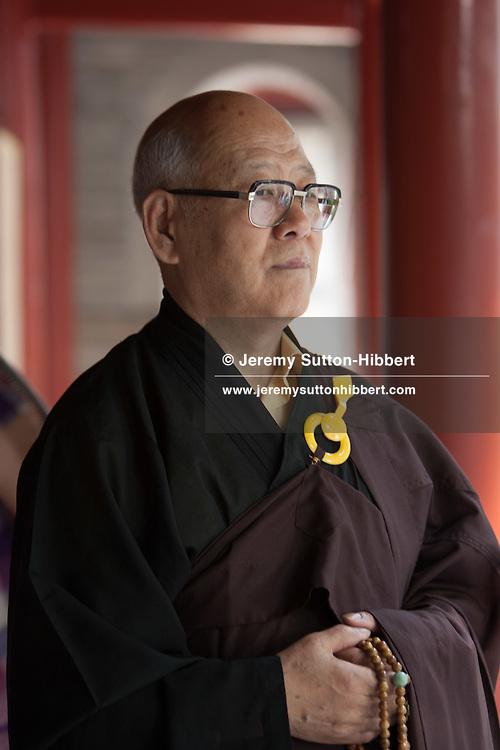 Master Gui Yuan at Guangji Temple, in Beijing, China, Monday 28th May 2012.
