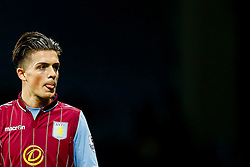 Jack Grealish of Aston Villa sticks out his tongue as he looks on - Photo mandatory by-line: Rogan Thomson/JMP - 07966 386802 - 27/08/2014 - SPORT - FOOTBALL - Villa Park, Birmingham - Aston Villa v Leyton Orient - Capital One Cup Round 2.