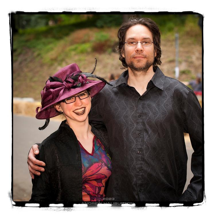 Deanna Hutchinson and David Sheckler at the Portland Adult Soapbox Derby, Portland, Oregon - 13 August 2011.