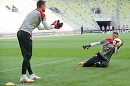 Poland's goalkeeper Wojciech Szczesny while official training one day before international friendly match between Poland and Lithuania at PGE Arena in Gdansk, Poland.<br /> <br /> Poland, Gdansk, June 05, 2014<br /> <br /> Picture also available in RAW (NEF) or TIFF format on special request.<br /> <br /> For editorial use only. Any commercial or promotional use requires permission.<br /> <br /> Mandatory credit:<br /> Photo by © Adam Nurkiewicz / Mediasport