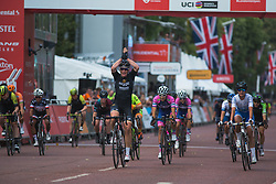 Kirsten Wild (NED) of Wiggle High5 Cycling Team wins the Prudential RideLondon Classique - a 64.8 km road race, starting and finishing in central London on July 28, 2018, in London, United Kingdom. (Photo by Balint Hamvas/Velofocus.com)