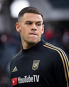 LAFC forward Christian Ramirez (21) before a MLS soccer match against the Sporting KC in Los Angeles, Sunday, March 3, 2019. LAFC defeated Sporting KC, 2-1. (Ed Ruvalcaba/Image of Sport)