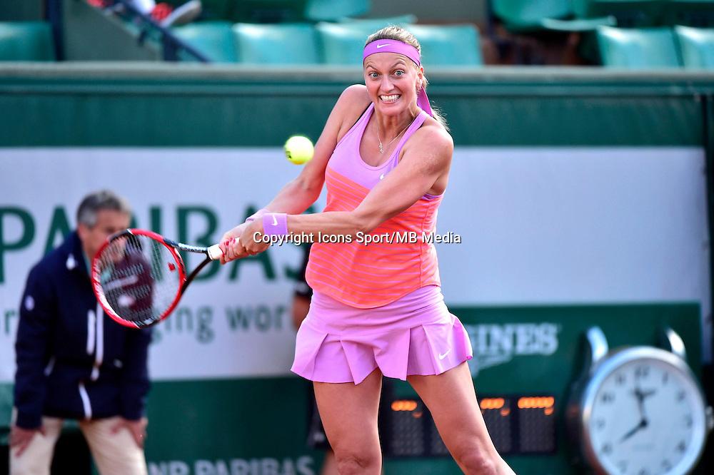 Petra KVITOVA - 01.06.2015 - Jour 9 - Roland Garros 2015<br /> Photo : David Winter / Icon Sport