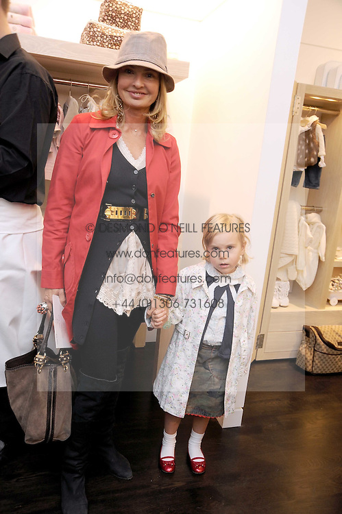 COUNTESS MAYA VON SCHONBURG and her daughter at a party to celebrate the opening of Pincess Marie-Chantal of Greece's store 'Marie-Chantal' 133A Sloane Street, London on 14th October 2008.