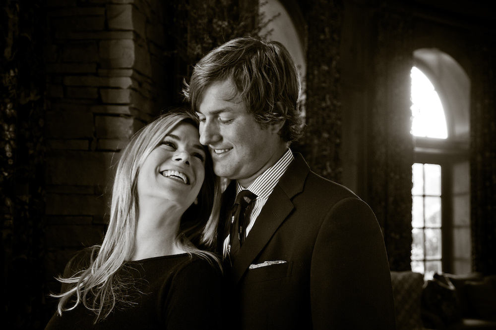 CHARLOTTE, NC - OCTOBER 27: Portrait of PGA Tour golfer Webb Simpson and wife, Dowd Simpson. Photographed at Quail Hollow Club in Charlotte, North Carolina on October 27, 2011. Photograph © 2011 Darren Carroll