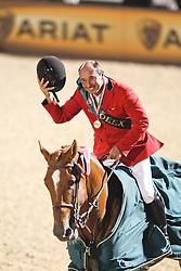 Lejeune Philippe (BEL) - Vigo d'Arsouilles<br /> winners of the gold medal<br /> Alltech FEI World Equestrian Games <br /> Lexington - Kentucky 2010<br /> © Hippo Foto - Leanjo de Koster