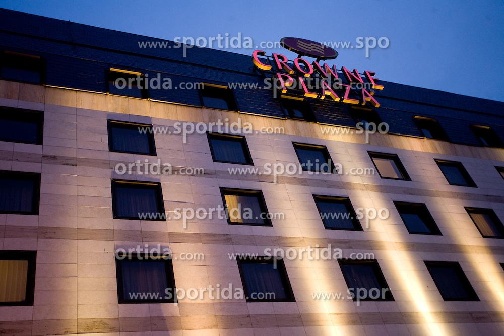 Crown plaza hotel, on October 10, 2009, Crown Plaza Hotel, near Tehelne Pole Stadium, Bratislava, Slovakia.  (Photo by Vid Ponikvar / Sportida)