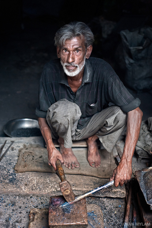 The Blacksmith - Old Delhi, India