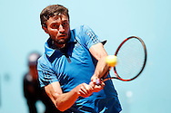 Gilles Simon during the Madrid Open at Manzanares Park Tennis Centre, Madrid<br /> Picture by EXPA Pictures/Focus Images Ltd 07814482222<br /> 02/05/2016<br /> ***UK &amp; IRELAND ONLY***<br /> EXPA-ESP-160502-0082.jpg