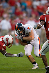 Virginia running back Josh Zidenberg (25)..The North Carolina State Wolfpack defeated the #15 Virginia Cavaliers 29-24 at Carter Finley Stadium in Raleigh, NC on October 27, 2007.
