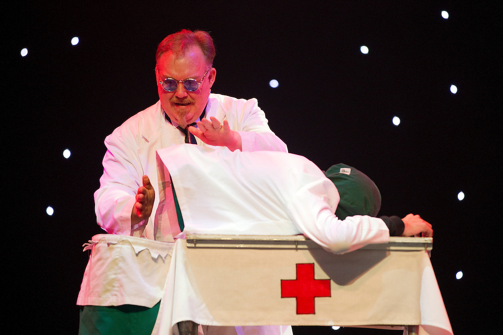 Kevin James, The Inventor performs in the magic show, The Illusionists - Witness The Impossible, Civic Theatre, Auckland, New Zealand, Wednesday, May 22, 2013.   Credit: SNPA / David Rowland