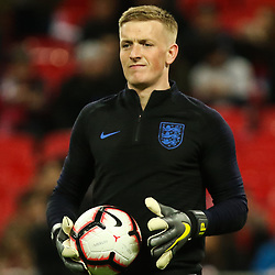 Jordan Pickford  of England warms up