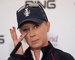 Auchterarder, Scotland, UK. 10 September 2019. Press conference by team at Gleneagles. Pictured Morgan Pressel of USA. Iain Masterton/Alamy Live News