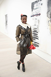 Singer SHINGAI SHONIWA at the opening of the exhibition Champagne Life in celebration of 30 years of The Saatchi Gallery, held on 12th January 2016 at The Saatchi Gallery, Duke Of York's HQ, King's Rd, London.