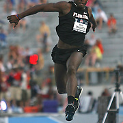 CRADDOCK - 13USA, Des Moines, Ia. - Omar Craddock won the triple jump with a mark of 56 ft. 3 1/4 inches. Photo by David Peterson
