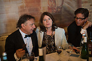RAYMOND BLANC; LUCINDA BREDIN; FRANCESCO BOGLIONE, Opening of Grange Park Opera, Fiddler on the Roof, Grange Park Opera, Bishop's Sutton, <br /> Alresford, 4 June 2015