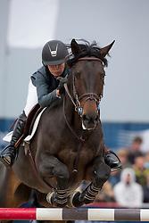 Crown Alexandra, , (USA), Von Cim  <br /> Grans Prix CSI 2*<br /> Longines Global Champions Tour - Antwerp 2015<br />  © Hippo Foto - Dirk Caremans<br /> 25/04/15