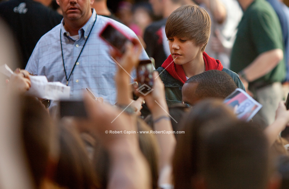 Justin Bieber performs live on NBC's TODAY Show at Rockefeller Plaza in New York City. ..Photo by Robert Caplin .