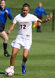 Virginia Cavaliers forward Jess Rostedt (12) in action against BC.  The #9 ranked Virginia Cavaliers defeated the #13 ranked Boston College Eagles 2-1 in NCAA women's soccer at Klockner Stadium on the Grounds of the University of Virginia in Charlottesville, VA on October 19, 2008.