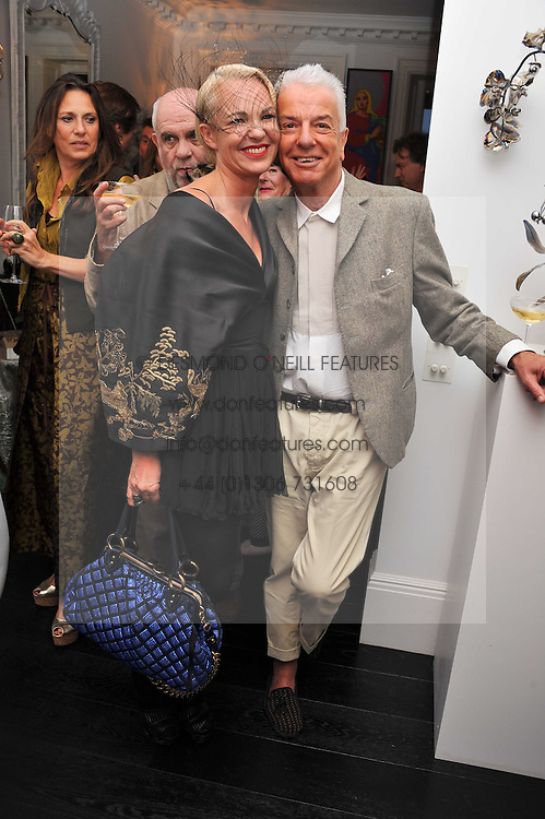 AMANDA ELIASCH and NICKY HASLAM at the after party for the press night of 'As I Like It' held at the home of Amanda Eliasch, 24 Cheyne Walk, London on 5th July 2011.