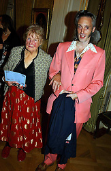 BEN WESTWOOD and his grandmother      SWIRE at a reception to open an exhibition entitled 'Boucher Seductive Visions' at The Wallace Collection, Manchester Square, London W1 on 29th September 2004.NON EXCLUSIVE - WORLD RIGHTS
