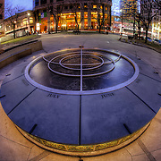Oppenstein Brothers Memorial Park at 12th and Walnut, downtown Kansas City, Missouri.