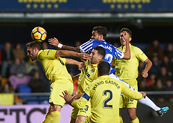 January 27, 2018 - Vila-Real, Castellon, Spain - Victor Ruiz of Villarreal CF and William Jose of Real Sociedad during the La Liga match between Villarreal CF and Levante Union Deportiva, at Estadio de la Ceramica, on January 26, 2018 in Vila-real, Spain  (Credit Image: © Maria Jose Segovia/NurPhoto via ZUMA Press)