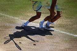 7 July 2017 -  Wimbledon Tennis (Day 5) - A multiple exposure imgage of a player serves the ball  - Photo: Charlotte Wilson / Offside.
