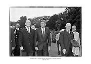 President John F. Kennedy attends a garden party at Áras an Uachtaráin.<br /> <br /> 27/06/1963<br /> <br /> 27th June 1963